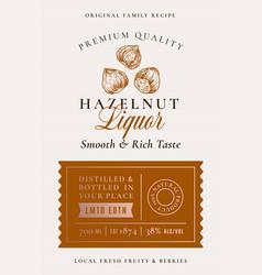 family recipe hazelnut liquor acohol label vector image