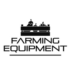 farming tool logo simple style vector image