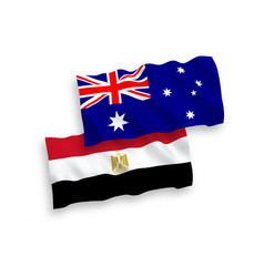 Flags australia and egypt on a white background vector