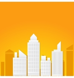 Flat of business city urban landscape vector