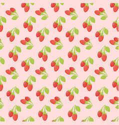 Goji berries seamless pattern vector