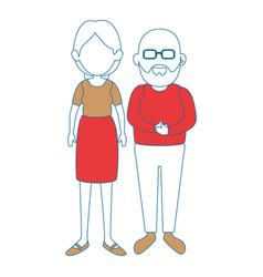 Grandparents couple icon vector