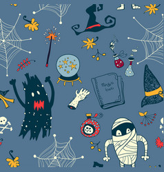Halloween seamless background vector