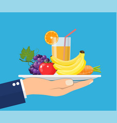 healthy food concept vector image
