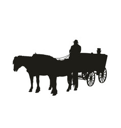 Horse-drawn carriage vector