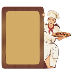 Italian waitress vector