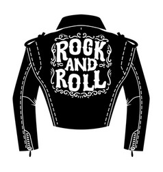 jacket rocker in engraving style design vector image
