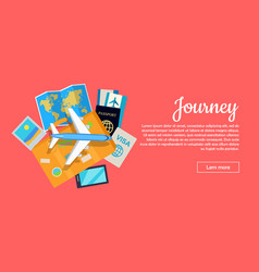 journey conceptual flat style web banner vector image