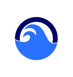 letter o abstract ocean waves logo icon vector image