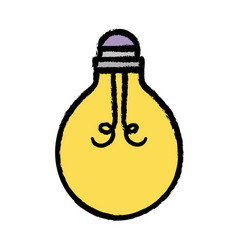 Light bulb energy object icon vector