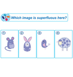 Logical task which image is superfluous here vector