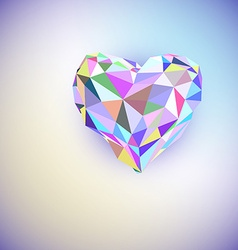 Low poly heart isolated on white background vector image