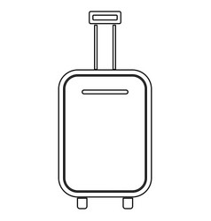 luggage bag black color path icon vector image