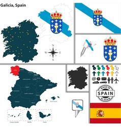 Map of Galicia vector