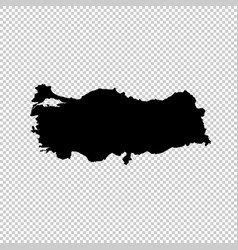 Map turkey isolated black on vector