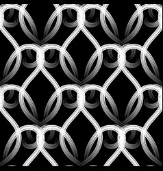 modern elegance black and white vintage seamless vector image
