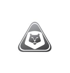 orange lion head and face for logo design animal vector image