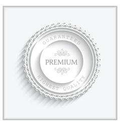 Paper badge vector