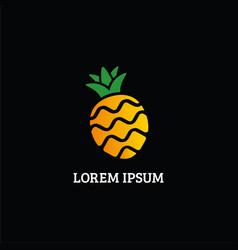 pineapple logo brand image vector image
