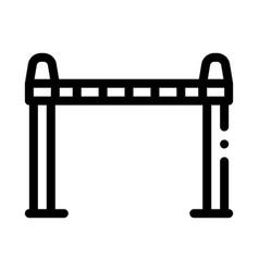 police enclosure icon outline vector image