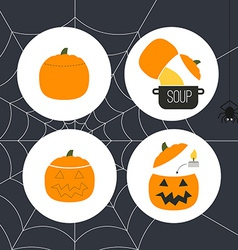 Pumpkin Icons vector image