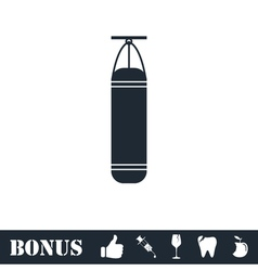 Punching bag icon flat vector