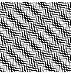 repeatable pattern with wavy zig zag lines vector image