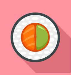 Sake wasabi sushi icon flat style vector