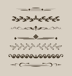 set decorative delimiters vector image