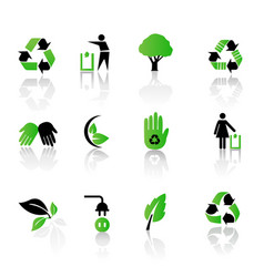 set of environmental recycling icons vector image