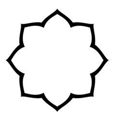 simple arabesque blank border vector image