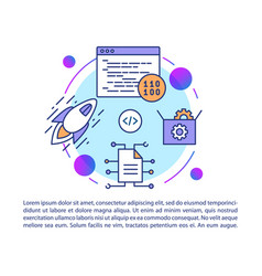 software development article page template binary vector image