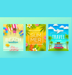 summer holidays and tropical vacation design vector image