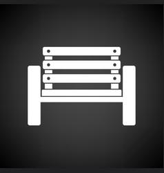 Tennis player bench icon vector