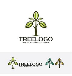 Tree leaf logo vector