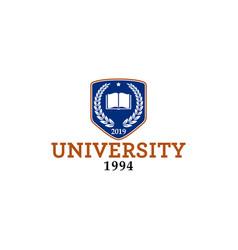 University emblem logo vector