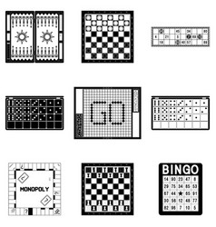 various board games vector image