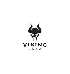 viking armor helmet logo design vector image