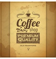 Vintage coffee typography background vector