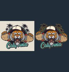 Vintage skateboarding colorful emblem vector