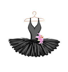 Watercolor ballet tutu on a hanger vector