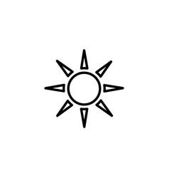 web icon sun black on white vector image