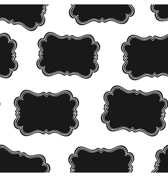 western labels seamless pattern vector image