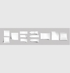white stickers different shapes with shadow vector image