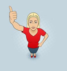 Woman gesturing vector