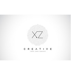 xz x z logo design with black and white creative vector image