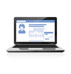 Your social public profile - social network page vector