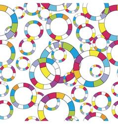 abstract circles vector image vector image