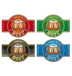 beer label set vector image vector image