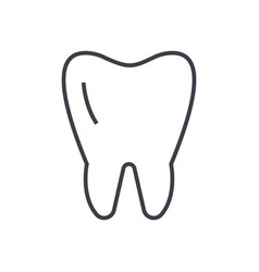 cute tooth line icon sign on vector image vector image